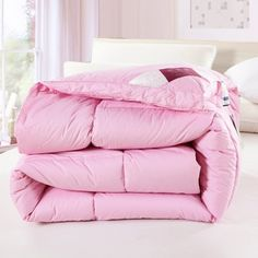 Fancy Pink Warm Comforters For Winter Soft Cotton Ultra Healthy Duvet Insert