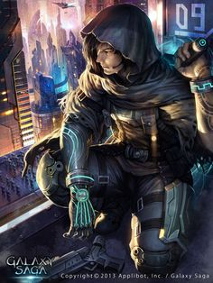 Cyberpunk art by atomiiii