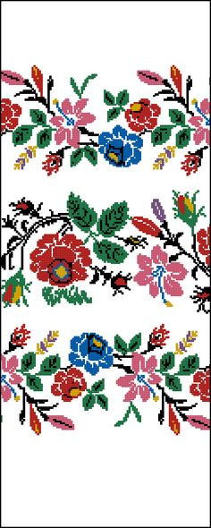 Folk Embroidery, Embroidery Patterns Free, Beaded Embroidery, Cross Stitch Embroidery, Embroidery Designs, Cross Stitch Borders, Cross Stitch Charts, Cross Stitch Designs, Cross Stitching