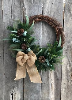 Xmas Wreath Christmas Wreaths Winter Wreath Rustic Front