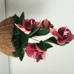 Fuchsia van vilt, vilten bloemen | www.be-flowerd.nl