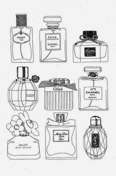 Parfums. Dibujo.