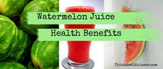 An article about all the amazing health benefits of watermelon juice, including all the vitamins and nutrients that you can find in fresh watermelon juice.
