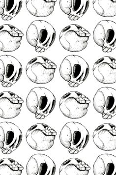 Geometric Skull Patterns and Designs by Melissa Jarvis, via Behance