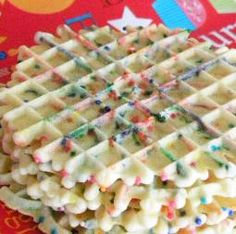 From the kitchen of Stephanie Knewasser. Recipe for Rainbow Pizzelles. Pizzelle Cookies, Pizzelle Recipe, Biscotti Cookies, Brownie Cookies, Cookie Desserts, No Bake Cookies, Just Desserts, Cookie Recipes, Dessert Recipes