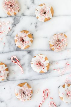 Candy Cane Mini Donuts for the Holidays