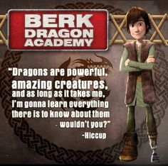 Hiccup quote Riders of Berk