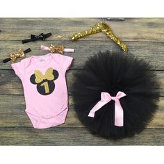 First Birthday Minnie Mouse , pink Minnie mouse, Black tutu, First birthday Party Theme, One year old party, Cake smash, smash cake. by GABYROBBINSDESIGNS on Etsy