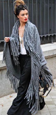 Grey Boho Coat ~ Boho Chic