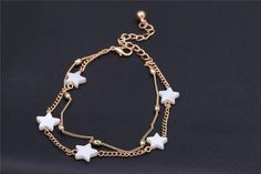 Delicate Beaded Ankle Bracelet In Assorted Styles