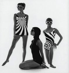 Op Art-bathing suits F.C. Gundlach Hamburg 1966 in- Film und Frau Modeheft F:S 1966