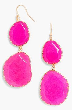 Glitzalicious ♥s ♥s ♥s ♥s this pin of Bright pink boho drop earrings Jewelry Accessories, Fashion Accessories, Fashion Jewelry, Fashion Necklace, Women's Fashion, Pink Earrings, Drop Earrings, Bright Spring, Jewelry