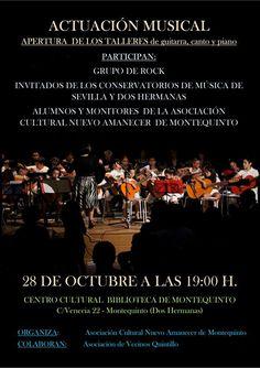 28-10-2015 / ACTUACIÓN MUSICAL de 'Apertura de los talleres de guitarra, canto y piano' de la Asociación Cultural Nuevo Amanecer.  Más información: https://www.facebook.com/events/127391044284187/
