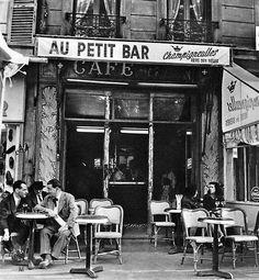 """Au Petit Bar"" Paris circa 1950 Ervin Marton"