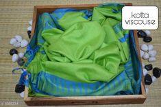 Sarees Contemporary Kota Viscose Silk Printed Saree  *Fabric* Saree - viscose silk, Blouse - viscose silk  *Size* Saree - 5.50 Mtr, Blouse - 1.00 Mtr  *Work* Printed  *Sizes Available* Free Size *   Catalog Rating: ★4.1 (250)  Catalog Name: Attractive Pretty Kota Viscose Silk Printed Sarees CatalogID_133607 C74-SC1004 Code: 195-1089234-