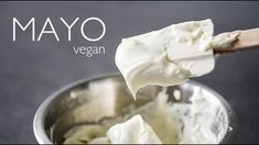 THICK VEGAN MAYO RECIPE | ULTIMATE EASY CHICKPEA JAPANESE KEWPIE STYLE MAYONNAISE | NO TOFU NO SOY - YouTube Delicious Vegan Recipes, Yummy Food, Healthy Food, Vegetarian Food, Healthy Eating, Vegan Foods, Vegan Snacks, Tofu, Reasons To Be Vegan