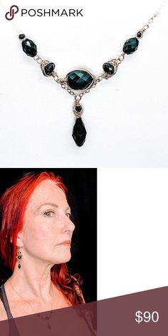 Black spinel crystal drop & 14kt GFilled necklace Black spinel, black crystal drop and 14 karat yellow gold filled $90. Also available in 14 karat rose gold filled $90 or sterling silver $80. Handmade by Kione's Prism Jewlery Kione's Prism Jewlery Jewelry Necklaces Jewlery, Jewelry Necklaces, Black Spinel, Crystal Drop, Black Crystals, Black Gold, Rose Gold, Sterling Silver, Yellow