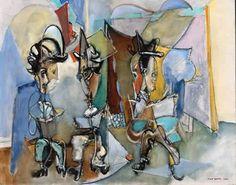 max weber - Three Literary Gentlemen 1945