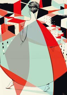 'Fashion'. Giclée Konsttryck av Pietari Posti - Arte Limited
