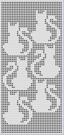 cat filet crochet afghan pattern More Filet Crochet, Crochet Cross, Crochet Home, Thread Crochet, Crochet Yarn, Crochet Cat Pattern, Crochet Stitches Patterns, Crochet Curtains, Crochet Doilies