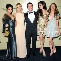Sarah Hyland, Vanessa Hudgens, Selena Gomez, Ashley Tisdale and Josh Hutcherson mingled at the Weinstein Golden Globes 2013 after party.