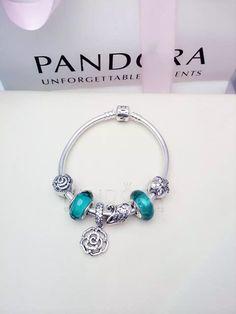 50% OFF!!! $179 Pandora Charm Bracelet Green. Hot Sale!!! SKU: CB02019 - PANDORA Bracelet Ideas