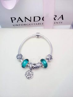 50% OFF!!! $179 Pandora Charm Bracelet Green. Hot Sale!!! SKU: CB02019 - PANDORA Bracelet Ideas