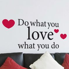 Do What You Love Words Wall Stickers