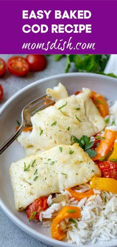Baked Cod Recipe is impossible to mess up. If you're new to cooking seafood,… - Mediterranean Diet Recipes Cod Fillet Recipes, Cod Fish Recipes, Baked Cod Recipes, Seafood Recipes, Fish Recipes For Babies, Baby Food Recipes, Cooking Recipes, Cooking Games, Snack Recipes