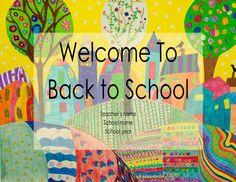 Back to School Night Editable Google Slide Back To School Night, Back To School Teacher, The New School, New School Year, School Fun, School Stuff, Preschool Center Signs, Preschool Centers, Preschool Classroom