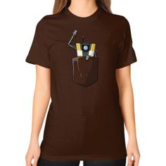 P0ck37 Unisex T-Shirt (on woman)