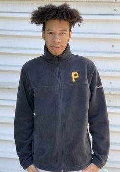 Columbia Pittsburgh Pirates Mens Black Flanker Light Weight Jacket - 20720286 Pittsburgh Pirates, Pittsburgh Penguins, Pittsburgh Steelers, Pitt Panthers, Stay Warm, Team Logo, Columbia, Zip Ups, Unisex
