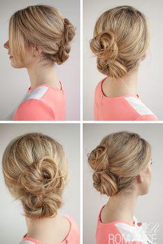 Hair Romance - 30 Buns in 30 Days - Day 26 - The double bun