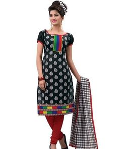 Vibes Pure Cotton Straight Fit Designer Dress Material V149-11 Product Price: Rs.1079.00 INR Deal Price:539.00