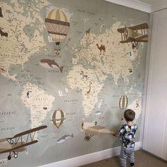 Baby Bedroom, Baby Boy Rooms, Baby Room Decor, Nursery Room, Kids Bedroom, Bedroom Decor, Map Nursery, Baby Room Diy, Garden Nursery