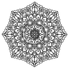 intricate floral mandala mandala coloring pagesadult - Intricate Mandalas Coloring Pages