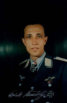 """Major Erich Rudorffer """" Former German Luftwaffe fighter ace, one of a handful who served with the Luftwaffe through the whole of World War II. He is the 7th most successful fighter pilot in the..."""