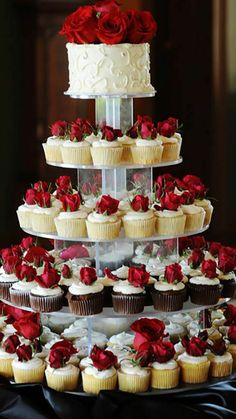 45 Totally Unique Wedding Cupcake Ideas Wanting some uniqueness to your wedding treats? We have a list of the unique wedding cupcake ideas! Read the post! Red And White Weddings, Red And White Wedding Decorations, Unique Wedding Themes, Classy Wedding Ideas, Red Table Decorations, Romantic Ideas, Elegant Wedding, Wedding Details, Wedding Cakes With Cupcakes