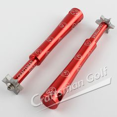 Smiling Face Series 6 Head U&V Golf Club Groove Sharpener For Iron & Wedge-Red, designed by CRAFTSMAN GOLF.