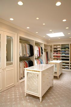Looking to design a walk-in closet in your home? Let California Closets design a premium closet solution that matches your style, storage needs and budget. Master Closet, Closet Bedroom, Walk In Closet, Closet Mirror, Closet Space, Closet Doors, Tiny Closet, Attic Closet, Bathroom Closet