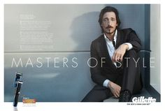 Gillette Masters of Style campaign promoting the Fusion ProGlide Styler, a new styling tool for men with facial hair. Campaign features André 3000 Benjamin, Gael García Benal and Adrien Brody. Created by BBDO.