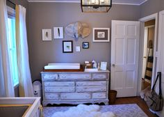 Gender neutral nursery # http://gallery.projectnursery.com/projects/1178-Serene-Gender-Neutral-Nursery-for-a-Surprise-Baby
