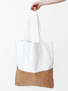 cotton and cork tote bag