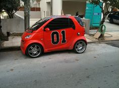 Cool General Lee Smart Car