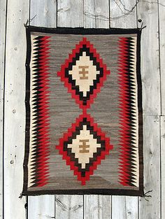 Love the color of the wood and the Indian blanket