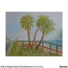 A1A in Flagler Beach, Florida Poster