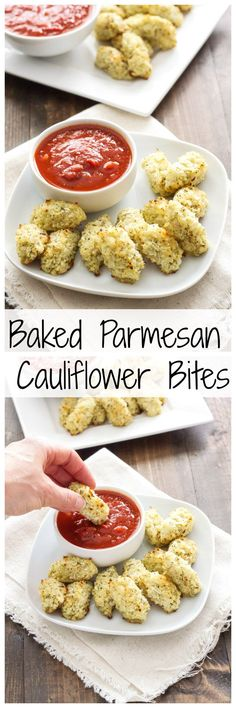 Baked Parmesan Cauliflower Bites | Add these delicious and healthier cheesy tots to your next party menu!