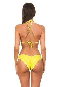 85b647b4b0 Brazilian Scrunch Bikini Bambole Lemon  scrunch  maryssil  bikini Scrunch  Bikini Bottoms