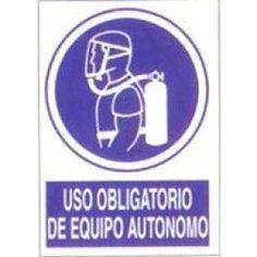 Señal Uso Obligatorio de Equipo Autonomo - http://www.janfer.com/es/obligacion/622-senal-uso-obligatorio-equipo-autonomo.html