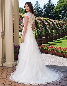 Available at Adore Bridal Boutique! www.adorebridalga.com Style 3914: Beaded Corded Lace A-Line Gown   Sincerity Bridal